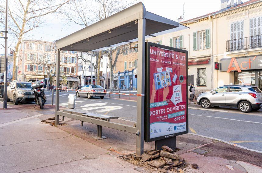 Nouveaux arrêts de bus à Draguignan